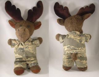 Airforce Moose plush commssion by pandari