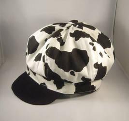 cow print news boy hat by pandari