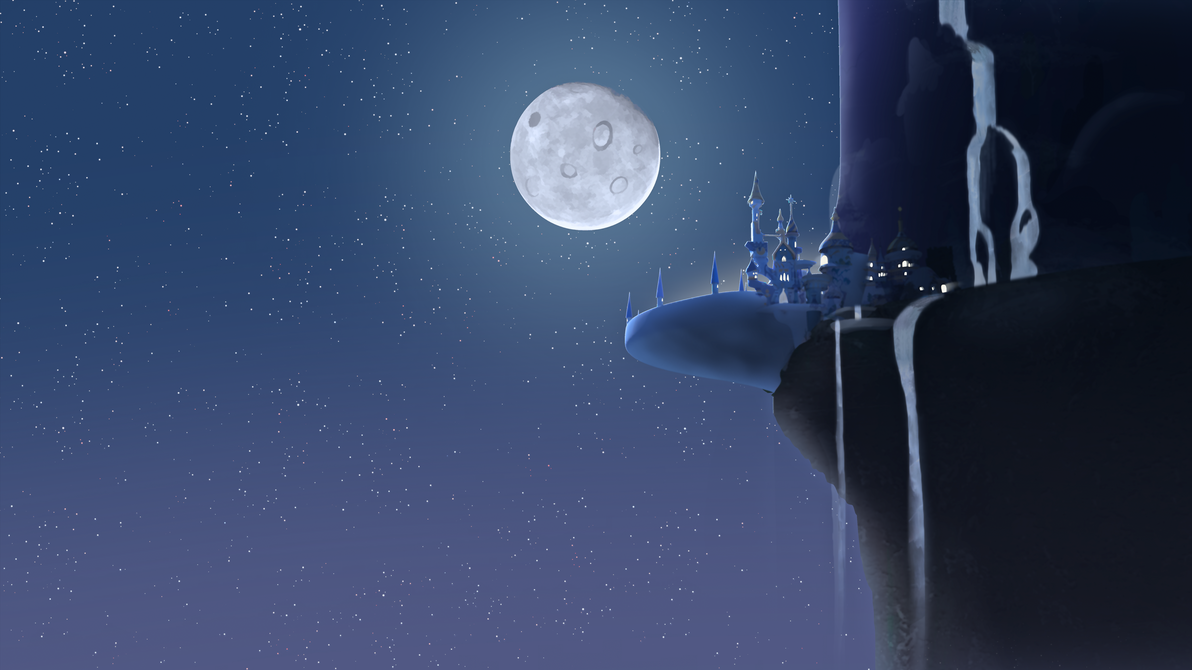 Luna's Determination: Canterlot at night 2 by MintyRoot