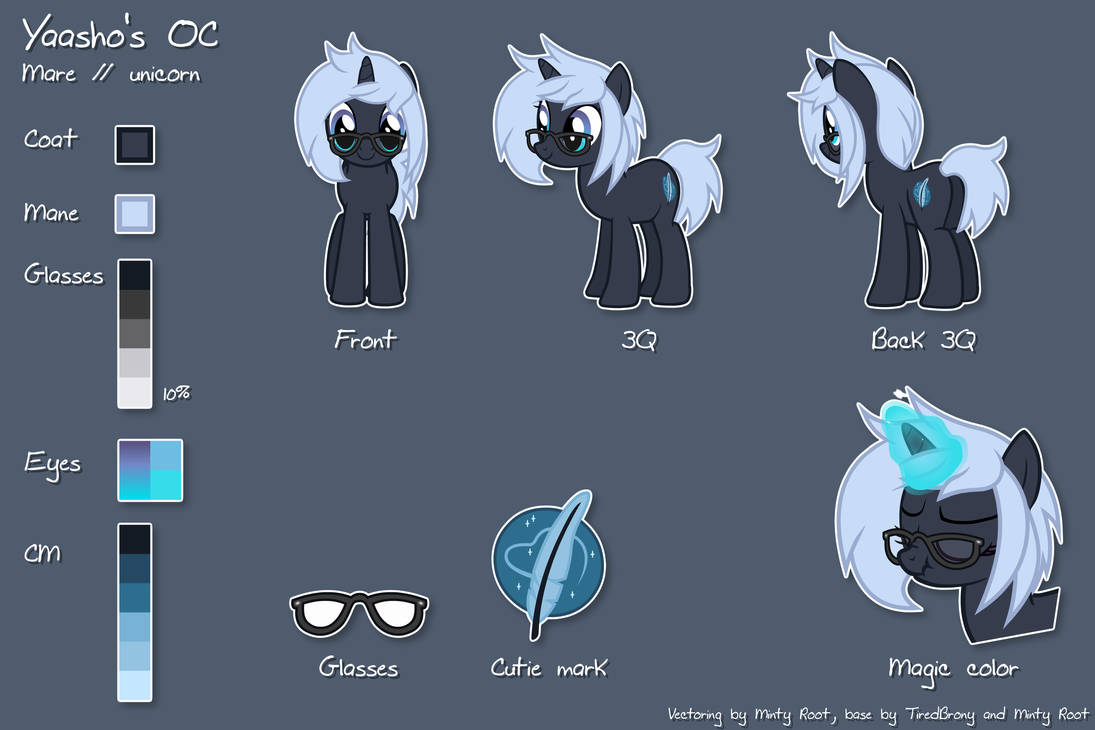 Yaasho's reference sheet by MintyRoot