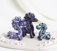 Tiny Unicorn and Pegasuses by vavaleff