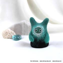 Needle felt Emerald Small kindly Spirit by vavaleff