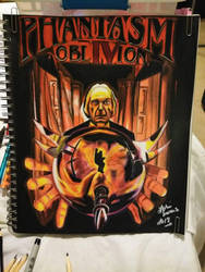 a drawing from the movie phantasm IV oblivion by hotflashandpencils