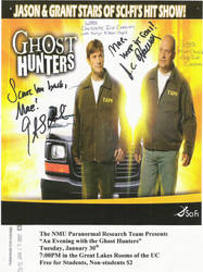 Ghost Hunters NMU flyer by maeoneechan