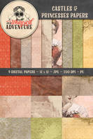 9 Castles + Princesses Papers by Whimsical-Adventure