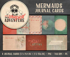 Mermaids Journal Cards by Whimsical-Adventure