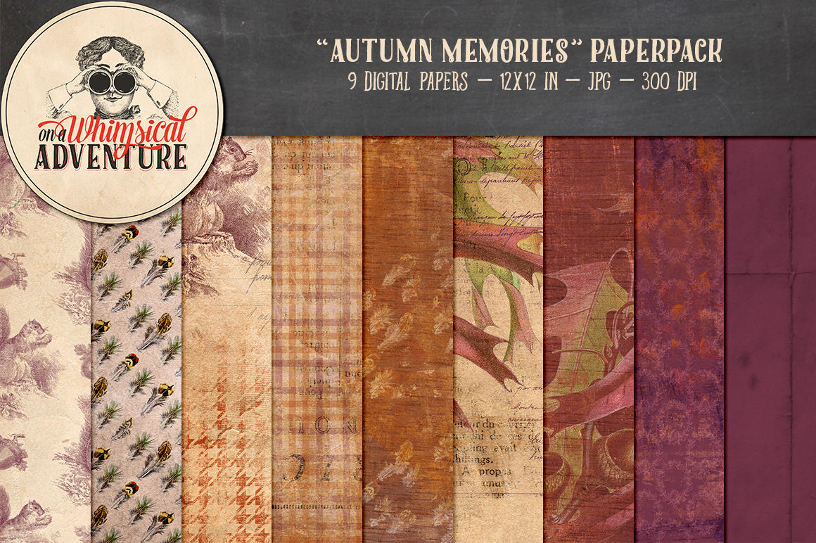 Autumn Memories Papers by Whimsical-Adventure