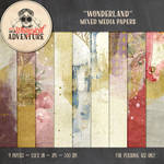 Wonderland Mixed Media Papers by Whimsical-Adventure