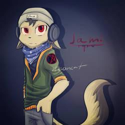 Drawed my friend as a furrie by Zeoncat