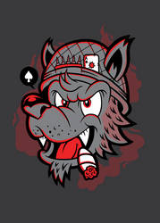 Old Hand Wolf Design by THNKboy