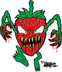 Killer Strawberry by THNKboy