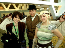Hiccup, Astrid, and husband by morgoththeone