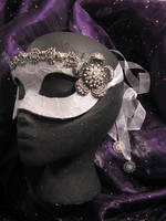 Lady Isabella Handmade Leather Masquerade Mask by ToTheMask