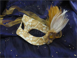 Lady Belle Handmade Leather Masquerade Mask by ToTheMask