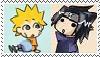 Naruto and Sasuke stamp by AkatsukiGirl11