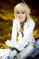 happy - saber bride cosplay by SelenaAdorian
