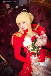 Saber/Extra from Fate/extra by SelenaAdorian