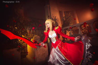 Battle time, Empreror! Saber/Extra from Fate/extra by SelenaAdorian