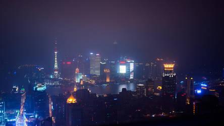 Shanghai Fog by burningmonk