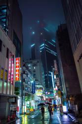 Neon Rain by burningmonk