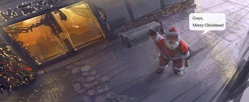 speedpainting-Merry Christmas by jamlee1020