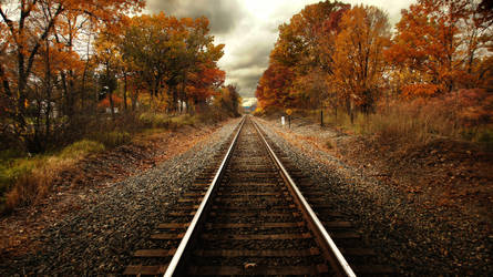 Steel Rails Fall by RollingFishays