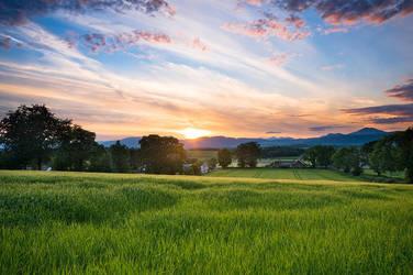 Scottish Summer Sunset by adamlack