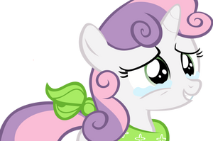 Request: Sweetie Belle crying with happiness by Pangbot