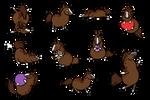 Chimalma 10 Chubby Chibis by DragonsFlameMagic