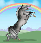 Evangeline Unicorn by DragonsFlameMagic