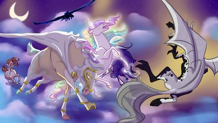 Battle for Cloud Kingdom by DragonsFlameMagic