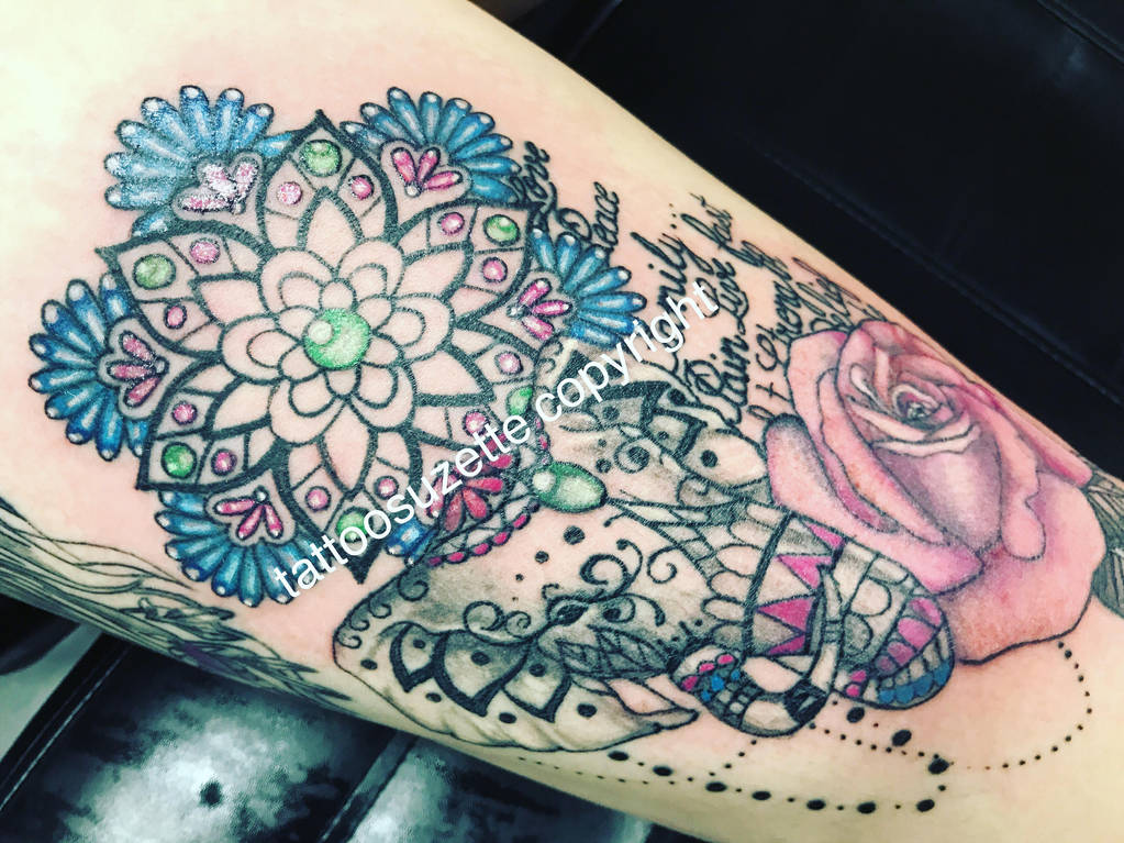 Tatouage Elephant Mandala By Tattoosuzette On Deviantart