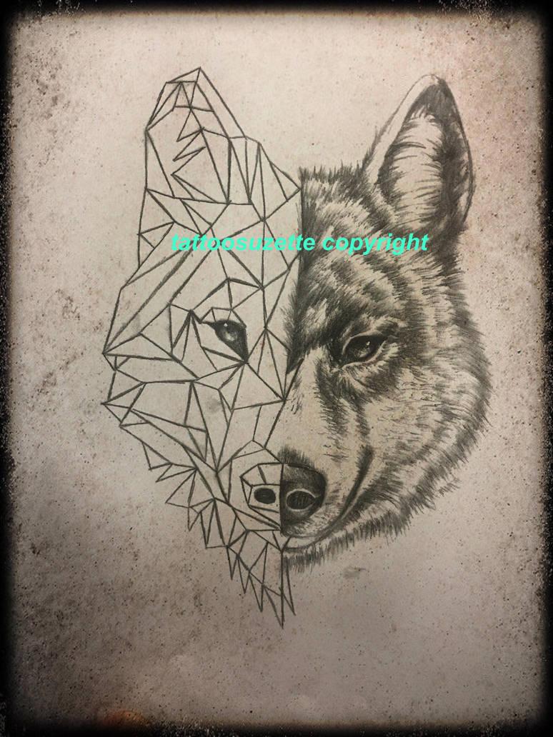 Geometric Wolf Tattoo Design By Tattoosuzette On Deviantart