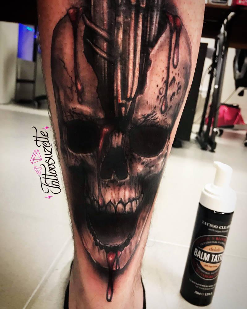 Tatouage Tete De Mort Realiste By Tattoosuzette On Deviantart