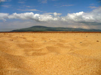 Sandy beach in Cumbria by Arkz86