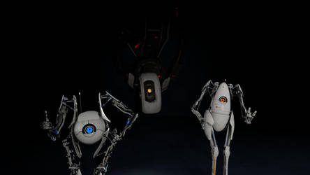 [SFM] P-Body, Atlas and GLaDOS by Time-Cop131