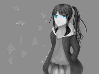 Crying Girl by EvanDonkey