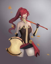 RWBY:  Pyrrha Nikos by KindredCrusader