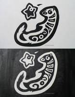 Dizzy Ferret Logo by kittydemonchild