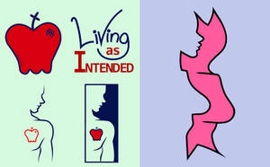 Living as Intended and Truth In Testimony Logos by kcday