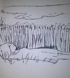 Inktober Day 2 - Tranquil by NightMongoose