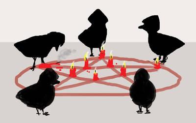 Satanist ducks by NightMongoose