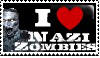 I love Nazi Zombies Stamp by QueenJellybeany