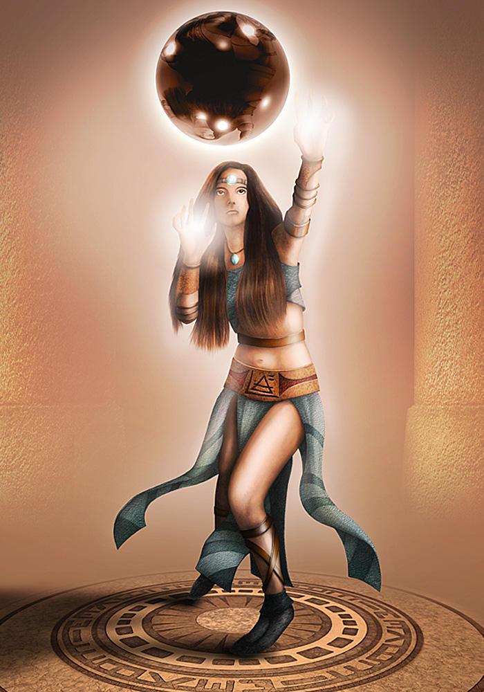 Sorceress Xyriana by Khorghil