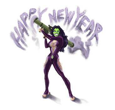 Vivia the Jade: A New, Keen and Green Year! by Mercury-Pentacle