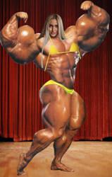 Huge Flexing Blonde by ericf989