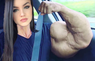Hot Brunette And Her Huge Bicep by ericf989