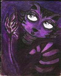 racoon girl painting by pangie
