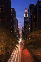 The glowing lines of New York by LinsenSchuss