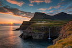 Sunset at Gasadalur by LinsenSchuss